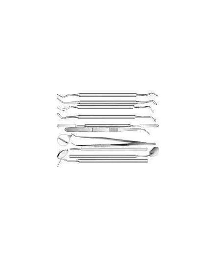 Комплект стомат. инстр. (10 пр в стерилизаторе) (Струм)